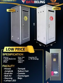 Portable Toilet Low Price Batu Beling