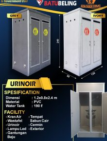 Portable Toilet Urinoir Batu Beling
